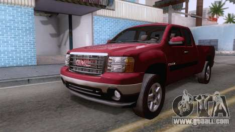 GMC Sierra 2015 for GTA San Andreas right view