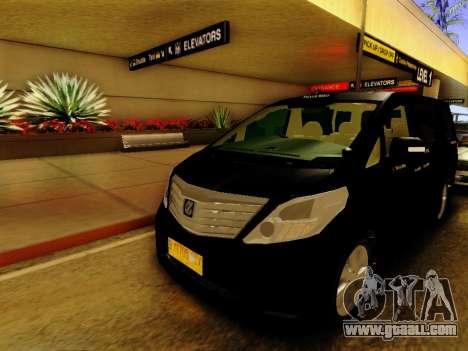 Toyota Alphard Taxi Silver Bird for GTA San Andreas