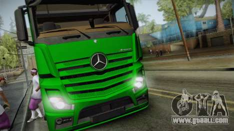 Mercedes-Benz Actros Mp4 6x2 v2.0 Gigaspace v2 for GTA San Andreas back left view