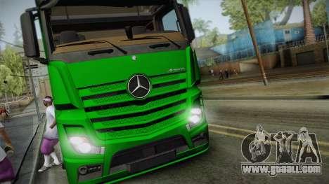 Mercedes-Benz Actros Mp4 6x2 v2.0 Gigaspace v2 for GTA San Andreas back left view