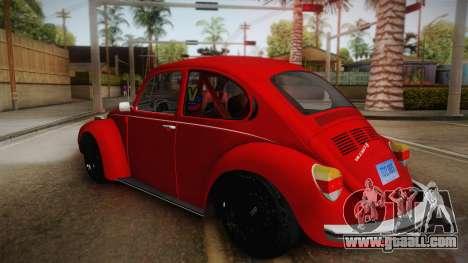 Volkswagen Beetle Escarabajo for GTA San Andreas left view
