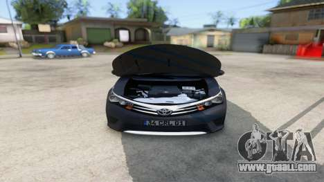 Toyota Corolla 2014 HQLM for GTA San Andreas inner view