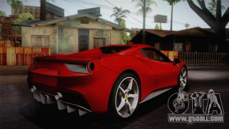 Ferrari 488 Spider for GTA San Andreas left view