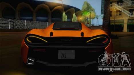 McLaren 570GT 2016 for GTA San Andreas inner view