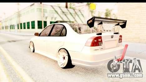 Honda Civic Vtec 2 Berkay Aksoy Tuning for GTA San Andreas right view