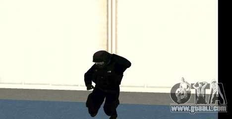GTA 5 FIB SWAT Blue for GTA San Andreas sixth screenshot