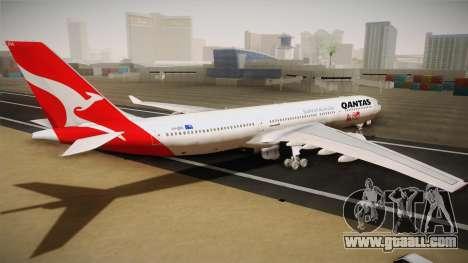 Airbus A330-300 Qantas 80 Years for GTA San Andreas left view