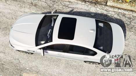 GTA 5 BMW M5 (F10) 2012 [add-on] back view
