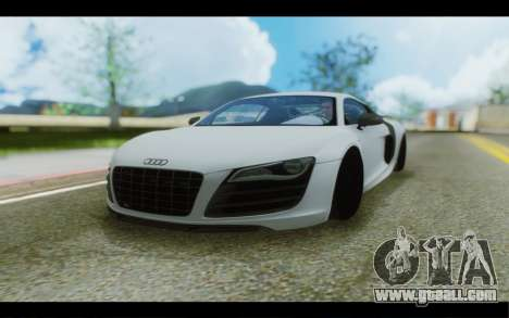 Audi R8 GT Sport 2012 for GTA San Andreas back left view