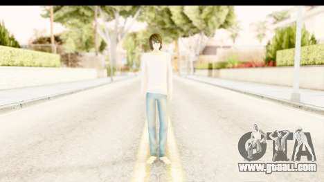 L Lawliet (Death Note) for GTA San Andreas second screenshot
