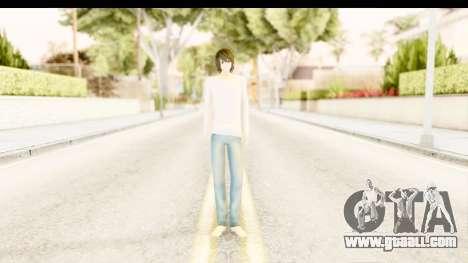 L Lawliet (Death Note) for GTA San Andreas second screenshot