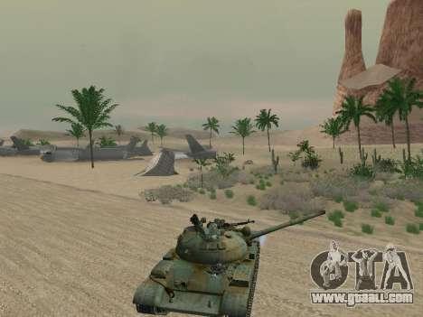 T-62 for GTA San Andreas wheels