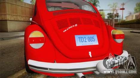 Volkswagen Beetle Escarabajo for GTA San Andreas right view