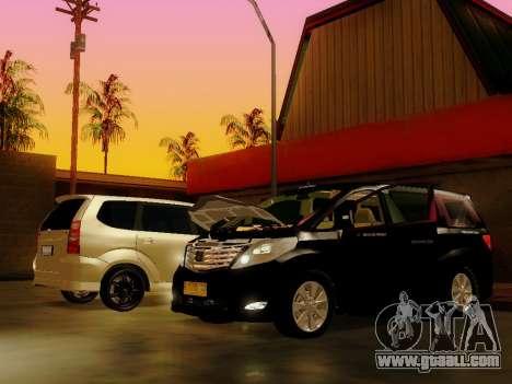 Toyota Alphard Taxi Silver Bird for GTA San Andreas back left view