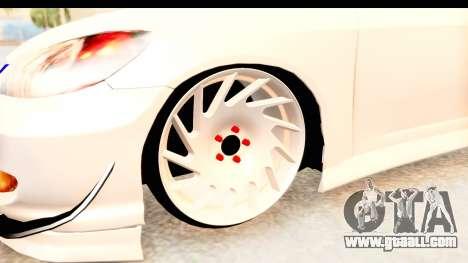 Honda Civic Vtec 2 Berkay Aksoy Tuning for GTA San Andreas back view