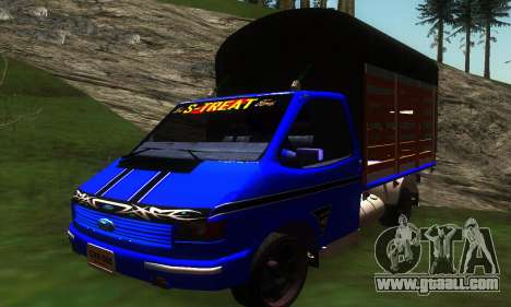 Ford Transit Stylo Colombia for GTA San Andreas left view