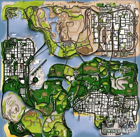 Remaster Map Full Version for GTA San Andreas