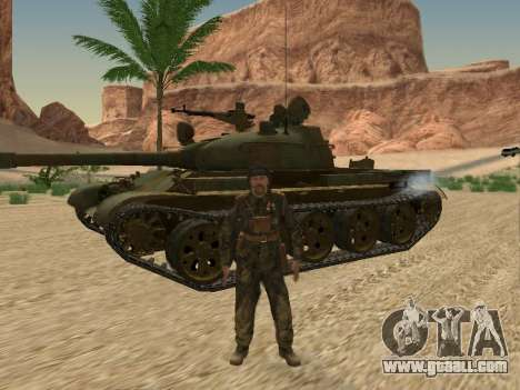 T-62 for GTA San Andreas side view