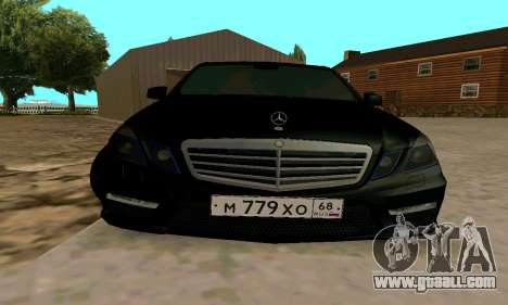 Mercedes-Benz E63 for GTA San Andreas back view