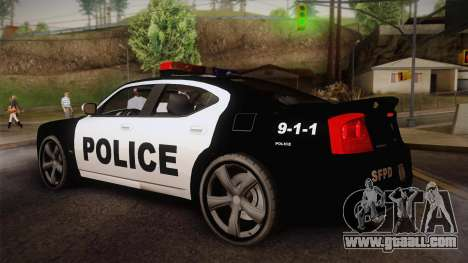 Dodge Charger SRT8 Police San Fierro for GTA San Andreas left view