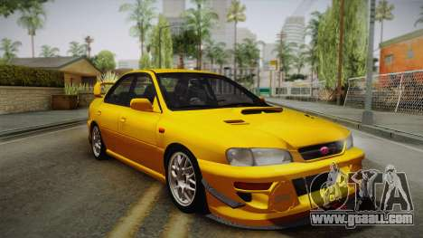 Subaru Impreza WRX STI GC8 1999 v1.0 for GTA San Andreas upper view