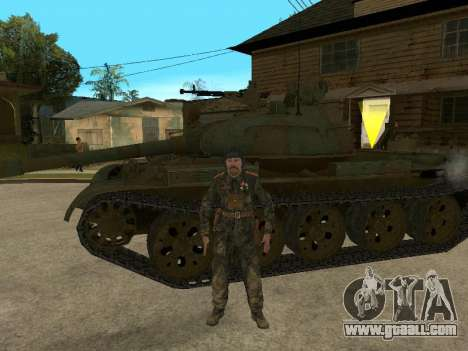 T-62 for GTA San Andreas back left view