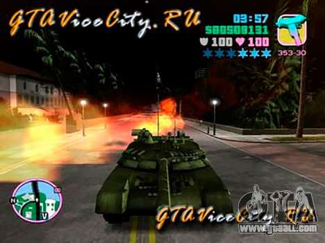 T80 for GTA Vice City back left view