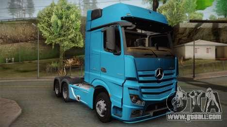 Mercedes-Benz Actros Mp4 6x4 v2.0 Gigaspace v2 for GTA San Andreas