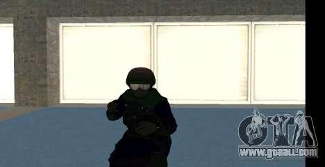 GTA 5 FIB SWAT Blue for GTA San Andreas
