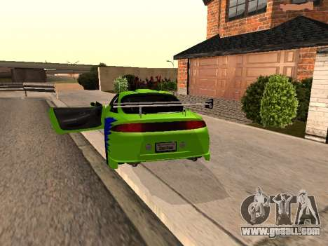 Mitsubishi Eclipse The Fast and the Furious for GTA San Andreas back left view