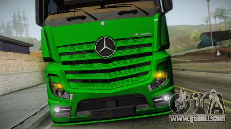 Mercedes-Benz Actros Mp4 6x2 v2.0 Gigaspace v2 for GTA San Andreas right view