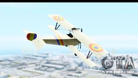 Nieuport 11 Bebe - Nr.865 Romania for GTA San Andreas right view