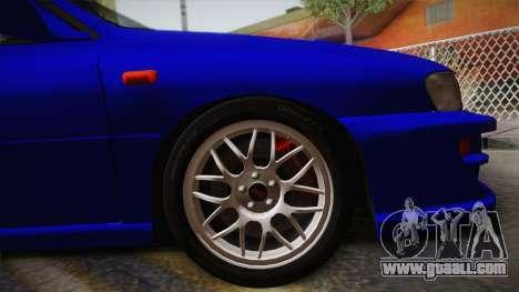 Subaru Impreza WRX STI GC8 1999 v1.0 for GTA San Andreas back left view