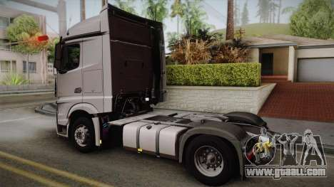 Mercedes-Benz Actros Mp4 4x2 v2.0 Steamspace v2 for GTA San Andreas left view