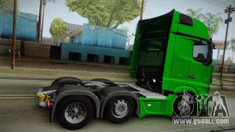 Mercedes-Benz Actros Mp4 6x2 v2.0 Gigaspace v2 for GTA San Andreas left view