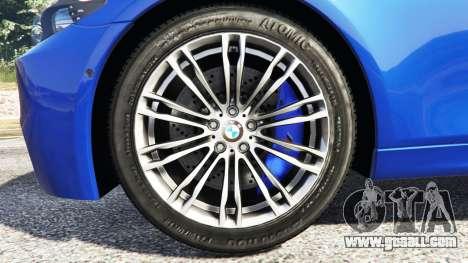 GTA 5 BMW M5 (F10) 2012 [add-on] rear right side view