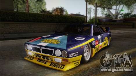 Lancia Rally 037 Stradale (SE037) 1982 IVF PJ1 for GTA San Andreas back left view