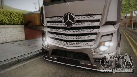Mercedes-Benz Actros Mp4 4x2 v2.0 Steamspace v2 for GTA San Andreas back left view