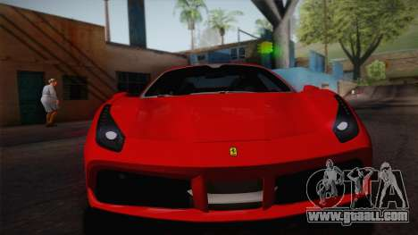 Ferrari 488 Spider for GTA San Andreas back left view