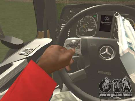 Mercedes-Benz Actros Mp4 4x2 v2.0 Gigaspace for GTA San Andreas inner view