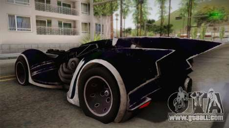 Batman Arkham Asylum Batmobile for GTA San Andreas left view