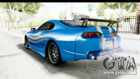 NFS: Carbon Darius Toyota Supra Updated for GTA San Andreas left view