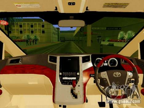Toyota Alphard Taxi Silver Bird for GTA San Andreas right view