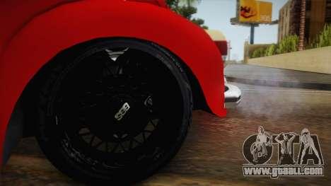 Volkswagen Beetle Escarabajo for GTA San Andreas back view