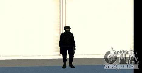 GTA 5 FIB SWAT Blue for GTA San Andreas forth screenshot