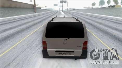 Mercedes-Benz Vito for GTA San Andreas back view