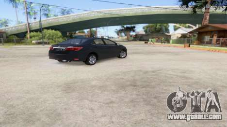 Toyota Corolla 2014 HQLM for GTA San Andreas left view