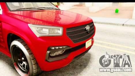 GTA 5 Benefactor XLS Armored IVF for GTA San Andreas interior