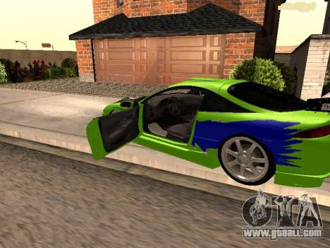 Mitsubishi Eclipse The Fast and the Furious for GTA San Andreas left view