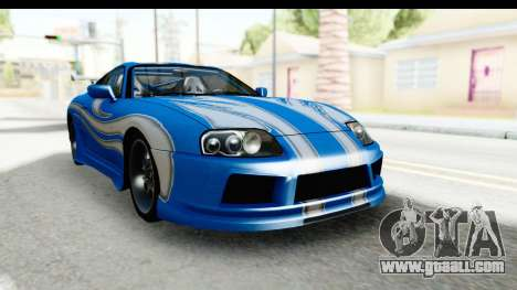 NFS: Carbon Darius Toyota Supra Updated for GTA San Andreas right view